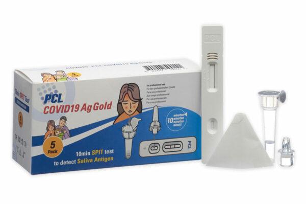 COVID-19 Antigen Schnelltest Speichel Spucktest